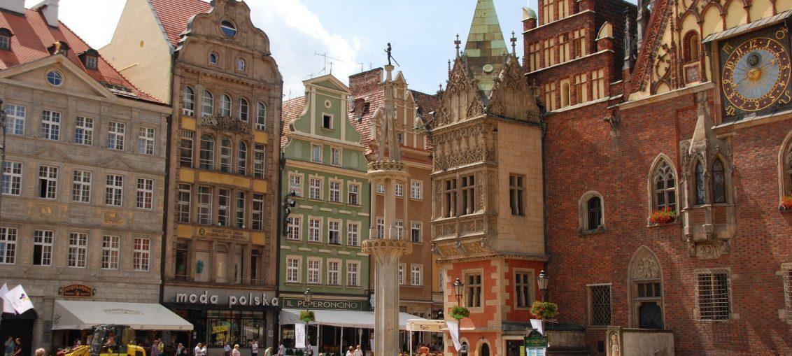 Pomnik na rynku Wrocław